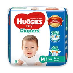 Picture of Huggies Dry Baby Diaper Belt M 6-11 kg
