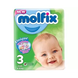 Picture of Molfix Baby Diaper Belt 3 Midi 4-9 kg