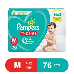 Picture of Pampers Baby Dry Pants Diaper Pant M 7-12 kg