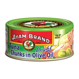 Picture of AYAM TUNA LIGHT CHUNK IN OLIVE OIL - 165 GM