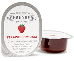 Picture of Strawberry jam portion beerenberg