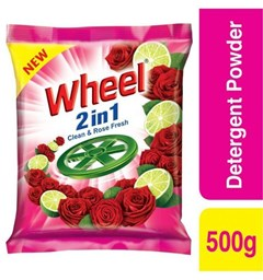 Picture of Wheel-2 in 1 Clean Rose Washing Powder-500gm